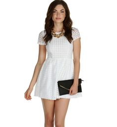 The Heart of White Lace Dress at WindsorStore