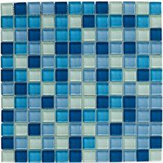 Bayswater Mosaic Blue Glass Mix 300X300 | bathstore
