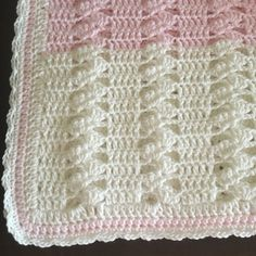 Crochet blanket of white and pink baby girl by jesjaymat on Etsy - - Crochet Afghans, Crochet Baby Blanket Free Pattern, Afghan Crochet Patterns, Baby Girl Items, Baby Girl Blankets, 72 Hours, Pink White, Feels, Priority Mail