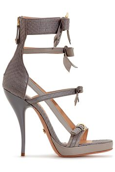 Viktor and Rolf Grey Strappy Ankle High Sandal Resort Accessories 2013 #Shoes #Heels