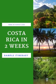 Two incredible weeks in Costa Rica: Caribbean and Pacific. Sample itinerary here: https://mytanfeet.com/costa-rica-travel-tips/two-weeks-costa-rica-itinerary/
