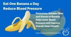 Banana does help in lowering blood pressure. Any low sodium diet or fruit with potassium content will help in reducing high BP.  According to National Institute of Health. Dash diet which contains fruits and vegetables providing potassium through natural sources not only reduces blood pressure but also provides overall protection to the heart.  #Bloodpressure #Banana