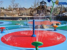 Centennial Center Park in Centennial.  New park with big spray park and learning opportunities.