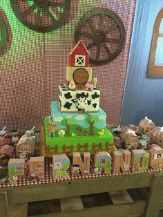 Bolo fazenda, farm cake, festa fazendinha
