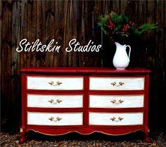 Red Velvet Make-Over w/ Emperor's Silk Chalk Paint® decorative paint by Annie Sloan - Stiltskin Studios