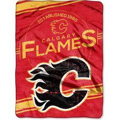 "Calgary Flames Stamp 60"" x 80"" Raschel Plush Blanket - $49.99"