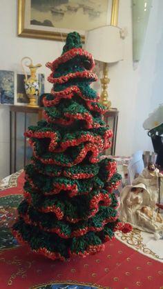 Albero di Natale crochet green/red
