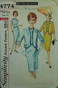 1960s Dress and Jacket Simplicity Pattern 4774  by patterntreasury, $17.95