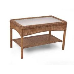 Martha Stewart Living   Charlottetown 2012 Brown All Weather Wicker Patio  Coffee Table   Will Be A Welcomed Addition For Your Deck Or Outdoor Living  Area. Part 71