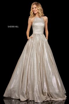 ebc89e4962c Look picture perfect at your senior prom in this absolutely glamorous prom  dress 52964 by Sherri Hill made in shimmering glitter knit fabric.