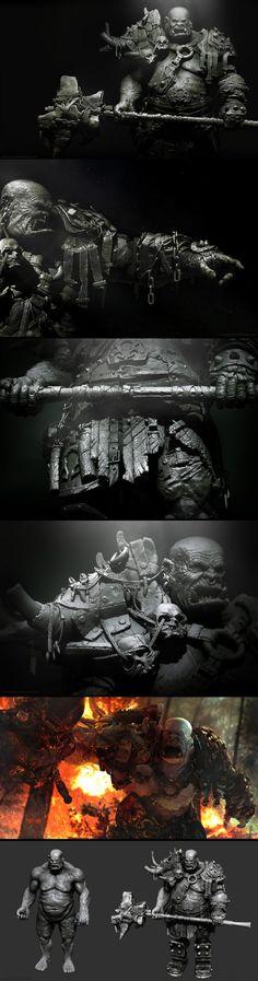 Veteran Orc Commander by Patrik Karlsson Creature 3d, Creature Design, Fantasy Warrior, Fantasy Art, Fantasy Races, Zbrush, Character Art, Character Design, Character Concept
