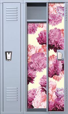 Peony Chic: Pink School Locker Wallpaper