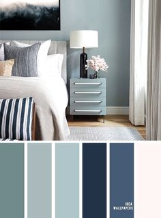 10 Beautiful Color Schemes For Your Bedroom { Sage + Navy Blue Blush Accents } Sage green and navy&; 10 Beautiful Color Schemes For Your Bedroom { Sage + Navy Blue Blush Accents } Sage green and navy&; Bedroom Colour Palette, Bedroom Wall Colors, Bedroom Color Schemes, Sage Color Palette, Interior Colour Schemes, Calm Colors For Bedroom, Paint Colours For Bedrooms, Decorating Color Schemes, Bedroom Colour Schemes Blue