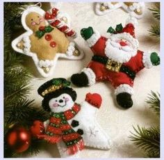 Felt Ornament Kits:  Make your own holiday ornaments with these fantastic ornament kits!  Kits make crafting easy since they include almost everything needed.  (The ornament kits to require stuffing to be purchased separately)