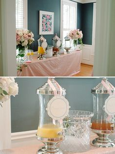 Elegant Sweet Baby Girl Baby Shower- crazy in love with this shower. So pretty.