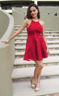 Enchant every city youare inwearing theCity Of LoveRed Lace Halter Skater Dress. This sexy lace dress has a high neckline, fitted bodice and a flirty skater skirt. Red dressesare the perfect choice for date night to happy hour, evening out on the town to night out with the girls, and engagement parties to fundraiser events. Shop acollection of short dresses which features mini dress styles to midi dress options, cami dresses to shift dresses,skater dressfashions to bodycon dresses.