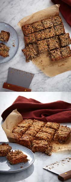 Breakfast Oat Bars -   A good breakfast is still so important, these bars are delicious but also packed full of nutrients and slow release oats.