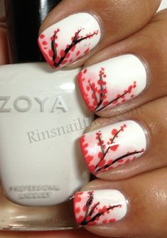 cherry blossom nail art robin moses - Google Search
