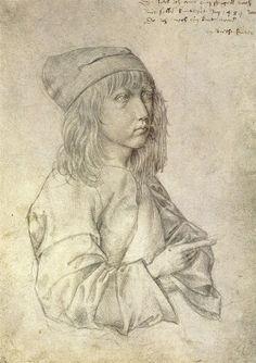 Daily artworks: Albrecht Dürer (1471 - 1528) Self-portrait silverpoint drawing by the thirteen-year-old Dürer (1484)