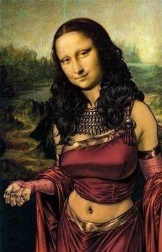 Mona Esmeralda -- Mona Lisa Parodies #Joconde