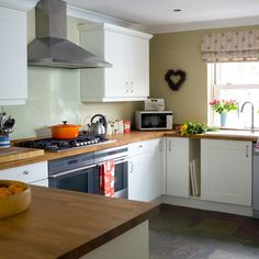 Beech wood and white kitchen | Kitchen decorating ideas | Style at Home | Housetohome.co.uk