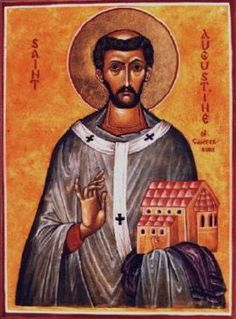 Augustine was the prior of a monastery in Rome when Pope Gregory the Great chose him to lead a party of forty monks to travel to south-eastern England to spread the Gospel there. They landed in 597, and were welcomed by the king of Kent, Ethelbert, who became a Christian along with many of his subjects.