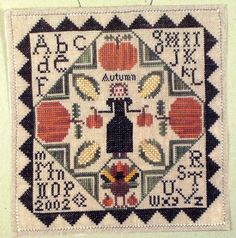 mary garry cross stitch | Details about Mary Garry's ~AUTUMN SAMPLER~ Sewing Cabin Cross Stitch ...