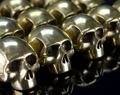 Paracord beads  Paracord skull beads of bronze. Big by GATURA