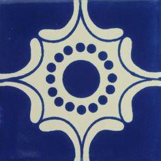 Especial Decorative Tile - Arabesque Azul – Mexican Tile Designs