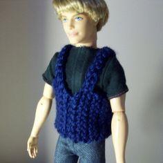 Vest For Ken | Free Barbie Crochet Pattern