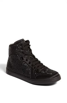 Gucci 'Coda' Crystal Stud High Top Sneaker - $1,100 on Vein - getvein.com