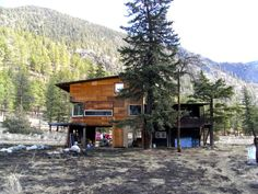 """Experimental house """"off the wall and off the grid"""" near Yalakom, British Columbia"""