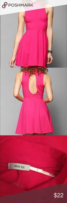 NWOT Kimchi blue mock neck fit and flare dress New without tags!  Kimchi blue mock neck fit and flare dress. Bright pink. Size medium. Make an offer :) Kimchi Blue Dresses