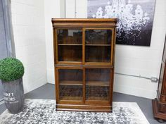 Antiques By Design - Danner Two Section Oak Stacking Bookcase