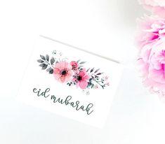 Three Eid Mubarak Cards Floral Printable Islamic Art Eid #eidmubarak #eid #printable #islamicart Images Eid Mubarak, Eid Mubarak Card, Mubarak Ramadan, Eid Mubarak Greetings, Eid Cards, Beautiful Henna Designs, Floral Printables, Embroidery On Clothes, Happy Eid
