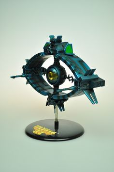 """A model of the """"Odyssey"""" spaceship."""