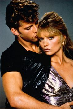 Michelle Pfeiffer and Maxwell Caulfield in Grease 2 Grease 2, Grease Live, Movie Couples, Cute Couples, Maxwell Caulfield, Grease Is The Word, Connie Stevens, Horror Picture Show, Lights Camera Action