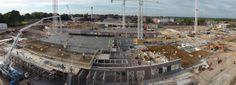 Panoramic view from a crane in September 2013 September 2013, Childrens Hospital, Crane, Park, Building, Children's Clinic, Buildings, Parks, Construction