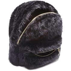 36cc50efad Forever21 Faux Fur Mini Backpack (27 AUD) ❤ liked on Polyvore featuring  bags