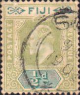 Postage Stamps Fiji 1903 King Edward VII SG 104 Used Scott 59 Other Fiji Stamps HERE