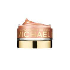 Michael Kors Bronzing Gel Apply this lightweight bronzing gel on your face and body to give skin a sun kissed tint. Aside from being hydrating, this gel smells amazing and has a cooling affect on your hot, summer skin.      Hydrating Bronze Gel Creme, Michael Kors $35