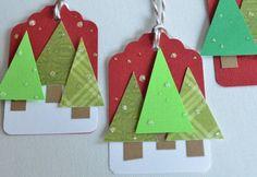 handmade gift tags | Christmas Gift Tags Trees Handmade Holiday by CardsbyJeweleighaB, $4 ...