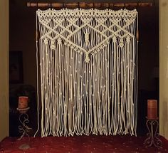 """Large Macrame Wall Hanging Bamboo Window Curtain """"Adagio"""" by MonroeArtist on Etsy https://www.etsy.com/listing/400207887/large-macrame-wall-hanging-bamboo-window"""