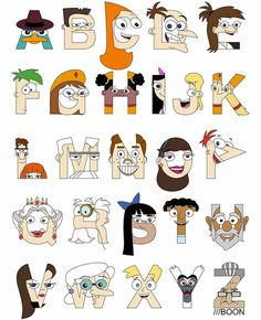 Phineas & Ferb Alphabet by Mike Boon
