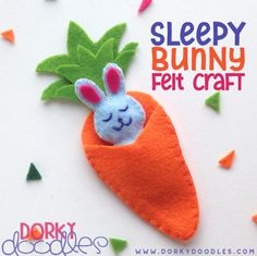 Felt Easter Bunny Craft for Kids - easy and fun! Rabbit Crafts, Bunny Crafts, Easter Crafts For Kids, Toddler Crafts, Easter Ideas, Felt Crafts Diy, Easy Crafts, Easter Bunny, Felt Bunny