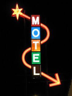 Motel sign in Pueblo, CO.