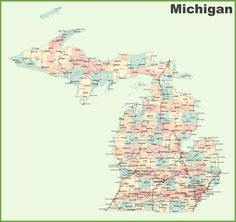 SITE FOR OTHER STATES COUNTIES ALSO Map Of Michigan Counties - Maps of michigan