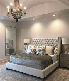 Home Interior 2019 Take a look at some contemporary bedroom design inspirations! Interior 2019 Take a look at some contemporary bedroom design inspir Small Master Bedroom, Master Bedroom Design, Dream Bedroom, Home Bedroom, Master Suite, Bedroom Designs, Bedroom Mirrors, Fancy Bedroom, Bedroom Ideas Master For Couples