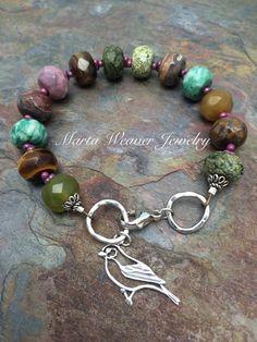 mooie kleurencombi met jasper, agaat, jade, tijgeroog en rhodoniet, sterling zilver 128 dollar