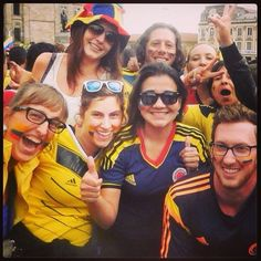 DAY 248 - On our very last day in South America, we support the Colombian team during the World Cup craziness.